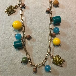 NWT🔖 J. Crew Green Crystal Sea Turtle Necklace